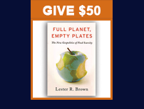 Give $50 and receive the book, Full Planet, Empty Plates